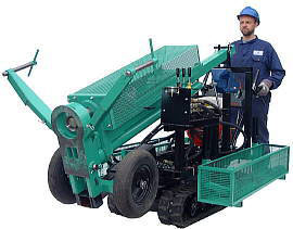 One man drilling platform